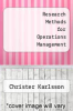 cover of Research Methods for Operations Management (2nd edition)