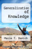 cover of Generalization of Knowledge