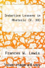 cover of Inductive Lessons in Rhetoric (V. 38)