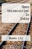 cover of Open Universities In India
