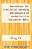 cover of New methods for statistical modeling and analysis of nondestructive evaluation data.