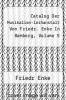 cover of Catalog Der Musikalien-leihanstalt Von Friedr. Enke In Bamberg, Volume 5
