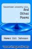 cover of Seventeen-seventy-six, And Other Poems