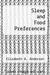 Cover of Sleep and Food Preferences  (ISBN 978-1249843160)