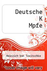 Cover of Deutsche K Mpfe  (ISBN 978-1249990550)