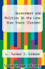 cover of Government and Politics in the Lone Star State (Custom)
