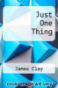 cover of Just One Thing