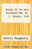 cover of Annals Of The Holy Childhood V36, No. 1, January, 1940