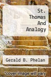 Cover of St. Thomas And Analogy  (ISBN 978-1258046217)