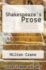 cover of Shakespeare`s Prose