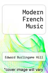 Cover of Modern French Music  (ISBN 978-1258214982)