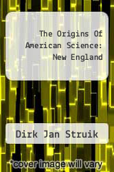 Cover of The Origins Of American Science: New England  (ISBN 978-1258215026)