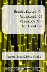 Cover of Readability: An Appraisal Of Research And Application  (ISBN 978-1258289126)