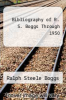 cover of Bibliography of R. S. Boggs Through 1950