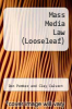 cover of Looseleaf for Mass Media Law (19th edition)