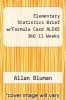 cover of Elementary Statistics Brief w/Formula Card ALEKS 360 11 Weeks (7th edition)