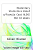 cover of Elementary Statistics Brief w/Formula Card ALEKS 360 18 Weeks (7th edition)