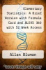 cover of Elementary Statistics: A Brief Version with Formula Card and ALEKS 360 with 52 Week Access Card (7th edition)