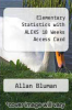 cover of Elementary Statistics with ALEKS 18 Weeks Access Card (7th edition)