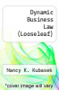 cover of Dynamic Business Law (4th edition)