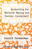 cover of Loose Leaf for Acct. for Decision Making and Contr (9th edition)
