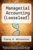 cover of Managerial Accounting (Looseleaf) (3rd edition)