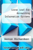 cover of Loose Leaf for Accounting Information Systems (1st edition)
