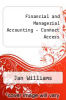 cover of Financial and Managerial Accounting-Access (18th edition)