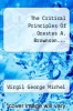 cover of The Critical Principles Of Orestes A. Brownson...