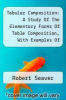 cover of Tabular Composition: A Study Of The Elementary Forms Of Table Composition, With Examples Of More Difficult Tabular Composition, Issue 21...