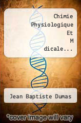 Cover of Chimie Physiologique Et M dicale...  (ISBN 978-1279054727)