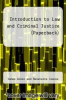 cover of INTRODUCTION TO LAW & CRIMINAL JUSTICE
