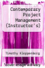 cover of Contemporary Project Management-Text Only