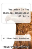 cover of Variation In The Chemical Composition Of Soils