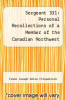 cover of Sergeant 331: Personal Recollections of a Member of the Canadian Northwest Mounted Police from 1879-1885 - Primary Source Edition