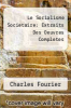 cover of Le Socialisme Societaire: Extraits Des Oeuvres Completes