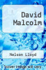 cover of David Malcolm