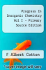cover of Progress In Inorganic Chemistry Vol I - Primary Source Edition