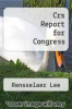 cover of Crs Report for Congress