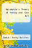 cover of Aristotle`s Theory of Poetry and Fine Art