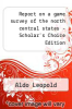 cover of Report on a game survey of the north central states - Scholar`s Choice Edition