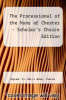 cover of The Processional of the Nuns of Chester - Scholar`s Choice Edition
