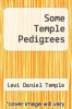 cover of Some Temple Pedigrees