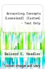 cover of Accounting Concepts (LooseLeaf) (Custom) - Text Only (10th edition)