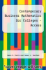 cover of Contemporary Business Mathematics for Colleges-Access (17th edition)