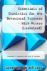 Essentials of Statistics for the Behavioral Sciences - With Access (Looseleaf) by Frederick J. Gravetter and Larry B. Wallnau - ISBN 9781305617742