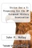 cover of Strive for a 5: Preparing For AP European History... (12th edition)