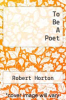 cover of To Be A Poet