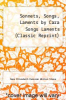 cover of Sonnets, Songs, Laments by Cara Songs Laments (Classic Reprint)