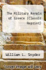 cover of The Military Annals of Greece (Classic Reprint)